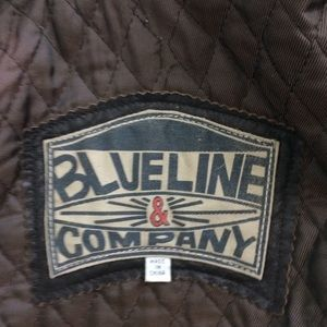 Blue Life Jackets & Coats - Leather Jacket Blue Line Company Brown Size M